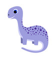 cartoon little dinosaur isolated on white vector image vector image