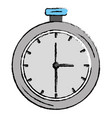 chronometer measure isolated icon vector image vector image
