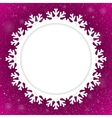 Circle Purple Background New Year Snow Snowflake vector image vector image