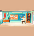classroom for history subject with old teacher vector image vector image