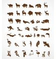 collection animal icons vector image