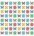 colorful traditional embroidery with butterflies vector image vector image