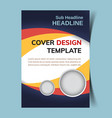 cover design template3 vector image vector image