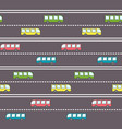 cute bus on the road pattern vector image vector image