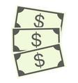 dollar banknotes vector image vector image