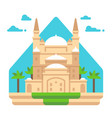 flat design mosque of muhammad ali vector image vector image