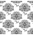 Flowers with ethnic paisley ornaments seamless vector image