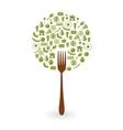 foods tree vector image vector image