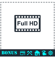 Full hd icon flat vector image