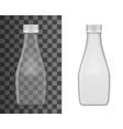 glass milk bottle mockup realistic flask vector image vector image