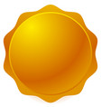 golden or bronze seal badge on white vector image