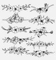 hand drawn flowers botanical decorative element vector image vector image