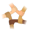 Hands of different races vector image vector image