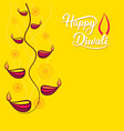 happy diwali festival greeting design vector image vector image