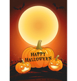 Happy Halloween full moon poster vector image vector image