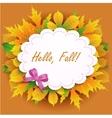 Hello Fall vector image