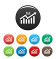 high tax icons set color vector image vector image