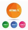 HTML5 sign icon New Markup language symbol vector image vector image