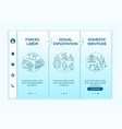 human trade types blue onboarding template vector image vector image