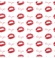 imprint of lips a kiss red lipstick seamless vector image vector image