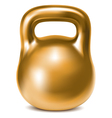 Kettlebell weight gold vector image vector image