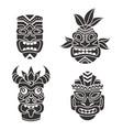 mask idol ritual black totem tribal face vector image
