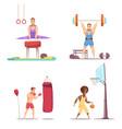 men take sports set vector image vector image