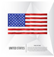 modern united states low poly background vector image vector image