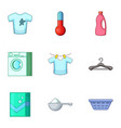 moisture content icons set cartoon style vector image vector image