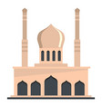 mosque icon flat style vector image vector image