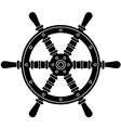 nautical boat steering wheel silhouette vector image vector image