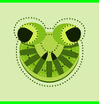 ornate frog head vector image