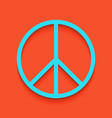peace sign whitish icon on vector image vector image