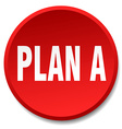 plan a red round flat isolated push button vector image vector image