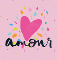 Print for T-shirt Amour Seamless pattern vector image vector image