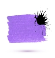 purple marker stain with ink blob vector image