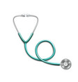 realistic medical stethoscope with shadow on white vector image