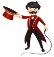 Ring master with whip vector image