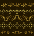 set gold border vector image vector image