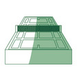 tennis court field vector image
