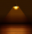The lamp in the room vector image vector image