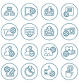 Thin line web icons set vector image vector image