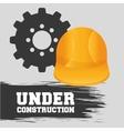 under construction design work vector image vector image