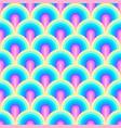 unicorn rainbow stripes pattern neon pastel vector image