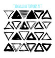 uniqiue handdrawn shapes of triangles for logo vector image