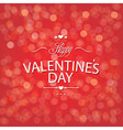Valentines Day Red Bokeh Background vector image