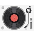 Vinyl turntable Flat vector image