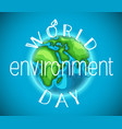 world environment day banner vector image