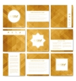 Square set of brochure Business science vector image