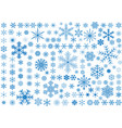 150 snowflakes vector image